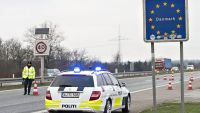 epa05087640 Danish police on patrol on highway E45 close to Padborg, Denmark, near the border with Germany, 04 January 2016. Denmark introduced temporary controls along its border with Germany, Danish Prime Minister Lars Lokke Rasmussen said, hours after