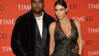 epa04715341 US musician Kanye West (L) and his wife Kim Kardashian (R) arrive for the Time 100 Gala at Frederick P. Rose Hall in New York, New York, USA, 21 April 2015. The event is a celebration of Time Magazine's annual issue recognizing 100 of the