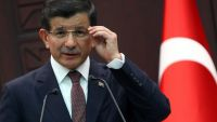 epa04918701 Turkish Prime Minister Ahmet Davutoglu speaks during a press conference in Ankara, Turkey, 07 September 2015. The Turkish army said on 07 September that 16 soldiers were killed and six wounded in an attack by Kurdish militants, local media