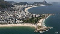 epa04062867 An overview of Ipanema (L) and Copacabana beaches, in Rio de Janeiro, 07 February 2014.  EPA/MARCELO SAYAO