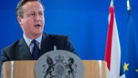 epa05074007 British Prime Minister David Cameron gives a press conference at the end of the second day of the EU Summit in Brussels, Belgium, 18 December 2015. EU leaders met in Brussels for the year-end summit with highly controversial British demands