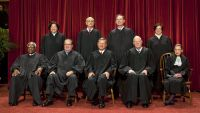 epa05159259 (FILE) A file photo dated 08 October 2010 shows the high court sitting for a new group portrait inside the Supreme Court Building in Washington, DC, USA. Reports state on 13 February 2016 state that US Supreme Court Justice Antonin Scalia (2-L