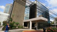 epa05244065 The building where is the office of Panamanian law firm Mossack Fonseca in Panama City, Panama, 04 April 2016. Millions of leaked documents published on 03 April 2016 suggest that 140 politicians and officials from around the globe, including