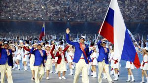 epa05371948 (FILE) A file picture dated 08 August 2008 of the Russian Olympic team during the Opening Ceremony of the Beijing 2008 Olympic Games at the National Stadium, known as Bird's Nest, Beijing, China. The International Association of Athletics
