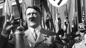 epa03298959 (FILE) An undated file photograph shows the leader of the National Socialist German Workers Party Adolf Hitler gesturing during a speech. Reports on 07 July 2012 state that Adolf Hitler personally intervened to prevent a Jewish comrade and