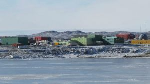 epa04690655 A handout picture made available by the Australian Antartic Division on 03 April 2015 shows a general view of Davis Station in the Australian Antarctic Territory, Antarctica, 22 March 2015. A seriously ill Australian expeditioner arrived on 03