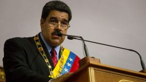 epa05104107 Venezuelan President Nicolas Maduro speaks at the National Assembly in Caracas, Venezuela, 15 January 2016. Maduro presented his 'Report and Accounts' or annual budget to Parliament.  EPA/MIGUEL GUTIERREZ *** Local Caption ***