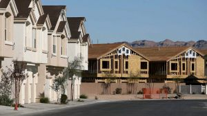 epa01226666 Recently built homes and homes currently under construction in the Nevada Ranch neighborhood of Las Vegas, Nevada as seen on 18 January 2008. Nevada has the highest rate of home foreclosure in the US making the economy one of the top issues in