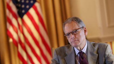 epa05559506 (FILE) A file picture dated 14 March 2016 shows Chief of the US mission in Cuba Jeffrey DeLaurentis during an interview in Havana, Cuba. On 27 September 2016, US President Barack Obama nominated DeLaurentis as the US Ambassador in Cuba.