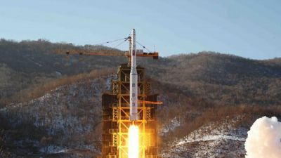 FILE - In this Dec. 12, 2012 file photo released by Korean Central News Agency, North Korea's Unha-3 rocket lifts off from the Sohae launch pad in Tongchang-ri, North Korea. Though it remains a highly unlikely scenario, Japanese officials have long