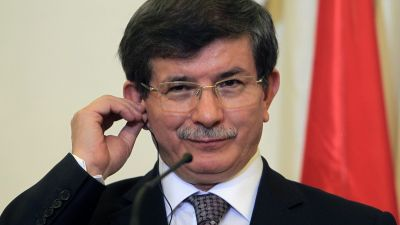 epa04362729 (FILE) A file picture dated 13 December 2013 shows Turkish Foreign Minister Ahmet Davutoglu during a press conference at the Ministry of Foreign Affairs in Athens, Greece. Foreign Minister Ahmet Davutoglu was chosen on 21 August 2014 by the