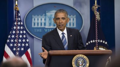 epa05386282 US President Barack Obama delivers remarks in the press briefing room in the White House in Washington, DC, USA, 23 June 2016.  EPA/MOLLY RILEY