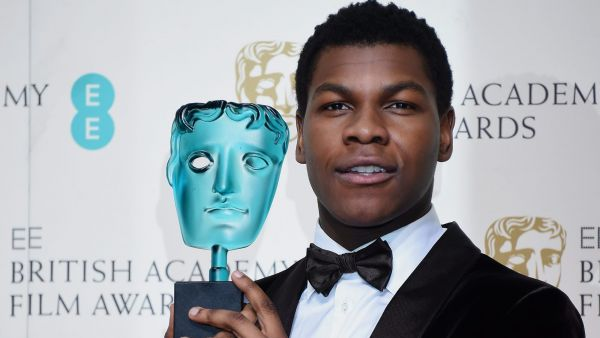 epa05161190 John Boyega poses in the press room after winning the EE Rising Star award during the 69th annual British Academy Film Awards at the Royal Opera House in London, Britain, 14 February 2016. The ceremony is hosted by the British Academy of Film