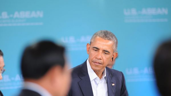 epa05164039 US President Barack Obama speaks durring the US-ASEAN Summit at Sunnylands in Rancho Mirage, California, USA, 15 February 2016. The United States is hosting a meeting with leaders from the Association of South-East Asian Nations (ASEAN) for