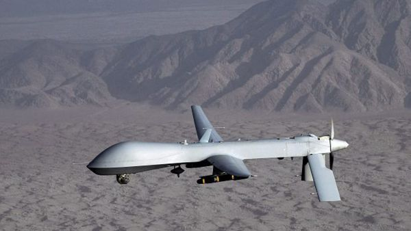 epa04625812 (FILE) An undated handout picture by the US Air Force shows a MQ-1 Predator unmanned aircraft in flight at an undiclosed location. According to a statement released by the US State Department on 17 February 2015, the US will begin selling