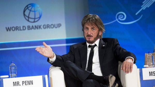 FILE - In this Oct. 8, 2015 file photo, Sean Penn speaks during a forum with young entrepreneurs during the IMF and World Bank annual meeting in Lima, Peru. Late Saturday, Jan. 9, 2016, Rolling Stone magazine published an interview that Guzman apparently