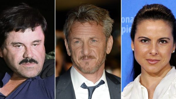 epa05094928 (FILE) A composite image of three file photos showing (L-R) alleged Mexican drug lord Joaquin 'El Chapo' Guzman in Los Mochis, Mexico, 08 January 2016; US actor Sean Penn in London, Britain, 16 February 2015; and Mexican actress Kate