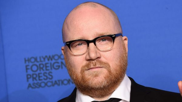 "Johann Johannsson poses in the press room with the award for best original score for ""The Theory of Everything"" at the 72nd annual Golden Globe Awards at the Beverly Hilton Hotel on Sunday, Jan. 11, 2015, in Beverly Hills, Calif. (Photo by Jordan Strauss"