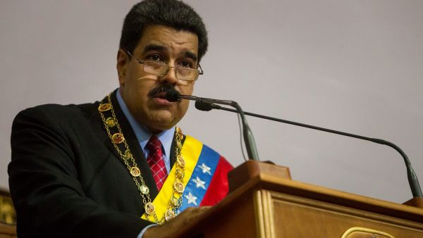 epa05104107 Venezuelan President Nicolas Maduro speaks at the National Assembly in Caracas, Venezuela, 15 January 2016. Maduro presented his 'Report and Accounts' or annual budget to Parliament.  EPA/MIGUEL GUTIERREZ