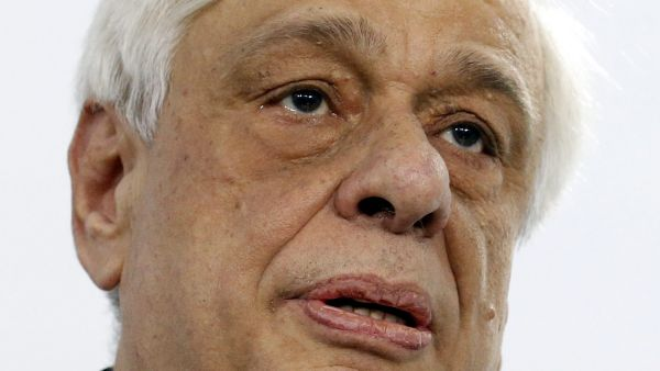 epa05101317 Greek President Prokopis Pavlopoulos attends the Gaidar Forum in Moscow, Russia, 14 January 2016. The Gaidar Forum, entitled 'Russia and the World: Looking to the Future', runs from 13 to 15 January.  EPA/MAXIM SHIPENKOV