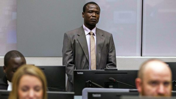 epa05115419 Dominic Ongwen of Uganda sits in the courtroom of the International Criminal Court (ICC) during the confirmation of charges in the Hague, the Netherlands 21 January 2016. The former commander in Uganda's Lord's Resistance Army rebel