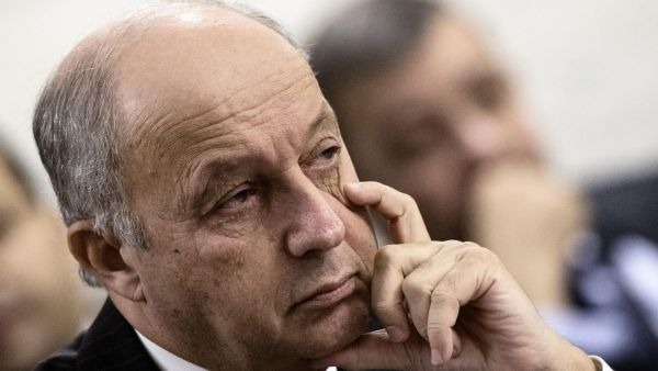 epa05139664 French Foreign Minister Laurent Fabius attends a meeting in Rome, Italy, 02 February 2016. Some 23 countries that are part of the US-led coalition against Islamic State are meeting in Rome to review progress in Syria and Iraq, and amid