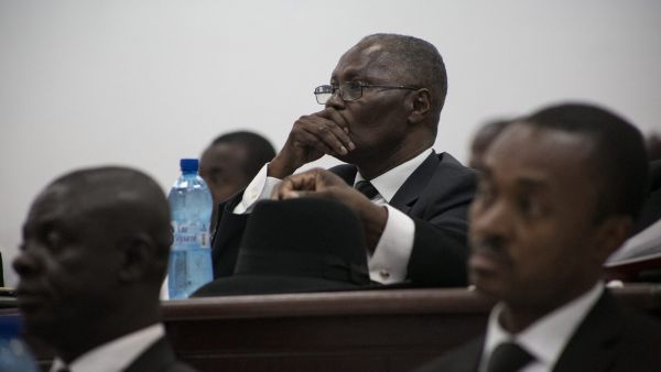 epa05159339 Interim president candidate, Jocelerme Privert in the Parliament in Port-au-Prince, Haiti, on 13 February 2016, while Haiti's new parliament votes to elect the interim president. The interim president will rule for up to 120 days