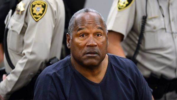 FILE - In this May 14, 2013, file photo, O.J. Simpson sits during a break on the second day of an evidentiary hearing in Clark County District Court in Las Vegas. Los Angeles police are investigating a knife purportedly found some time ago at the former