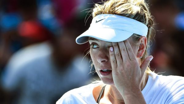 epa05199966 (FILES) Maria Sharapova of Russia reacts during a training session prior the Australian Open Grand Slam tennis tournament at Melbourne Park, in Melbourne, Australia, 16 January 2016. Maria Sharapova revealed that she failed a drug test being