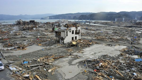 epa05201173 (36/39) (FILE) A file picture shows tsunami devastated Shizugawa district in Minami Sanriku of Miyagi Prefecture, northern Japan, 14 March 2011. March 11, 2016 marks the fifth  anniversary of the 9.0-magnitude earthquake and subsequent tsunami