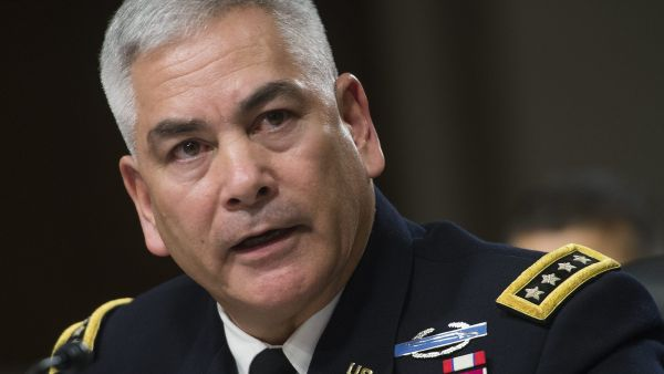 epa04966151 Commander of the Resolute Support Mission and United States Force - Afghanistan Army General John Campbell testifies before the Senate Armed Services Committee on 'The Situation in Afghanistan', on Capitol Hill in Washington, DC, USA