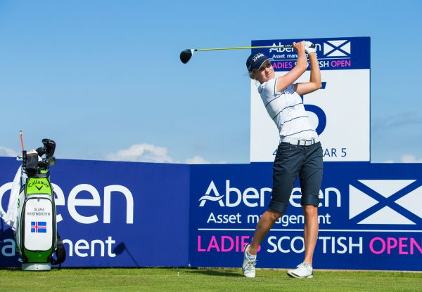25/07/2017 Ladies European Tour 2017: Aberdeen Asset Management Ladies Scottish Open. Dundonald Links, Ayrshire. Scotland 27-30 July 2017. Olafia Kristinsdottir of Iceland during the practice round. Credit: Tristan Jones.
