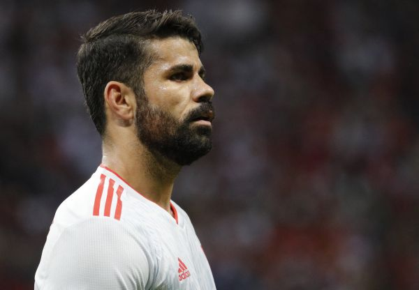 epa06825523 Diego Costa of Spain during the FIFA World Cup 2018 group B preliminary round soccer match between Iran and Spain in Kazan, Russia, 20 June 2018.