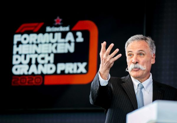 epa08386100 (FILE) - Formula One Group CEO Chase Carey speaks during a press conference on the 2020 Dutch Formula One Grand Prix at the Circuit Zandvoort, Netherlands, 14 May 2019 (re-issued 27 April 2020). Chase Carey posted a statement on the Formula 1 website on 27 April 2020 saying that the series is targeting to start the season by the beginning of July with the Austrian Grand Prix in Spielberg on 3-5 July being the first race.  EPA-EFE/REMKO DE WAAL